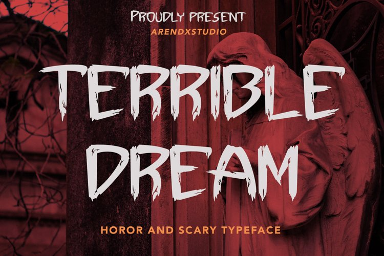 Terrible Dream - Horor & Scary Font example image 1