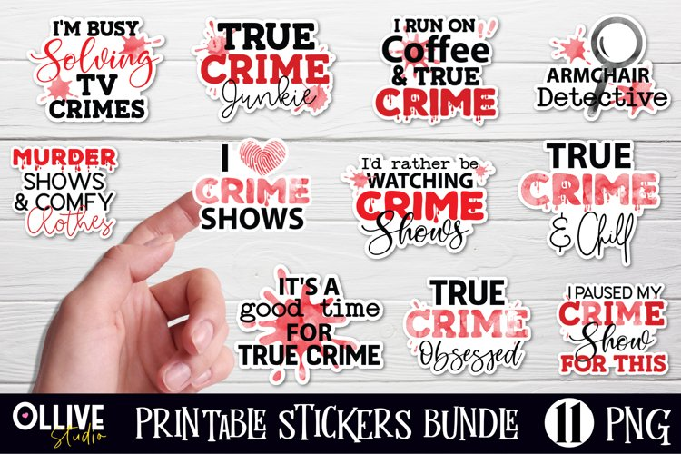 True Crime stickers Bundle | Murder Shows Printable Stickers example image 1