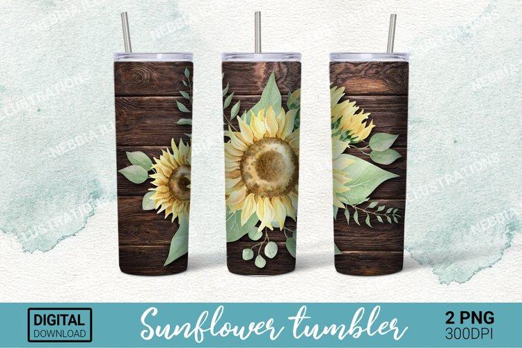 Sunflower Tumbler 20 oz - PNG Sublimation Design