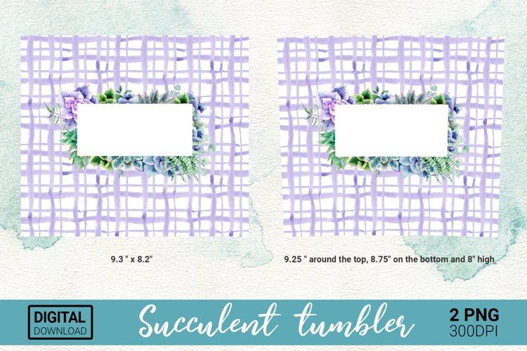 Succulent Tumbler 20 oz - PNG Sublimation Design