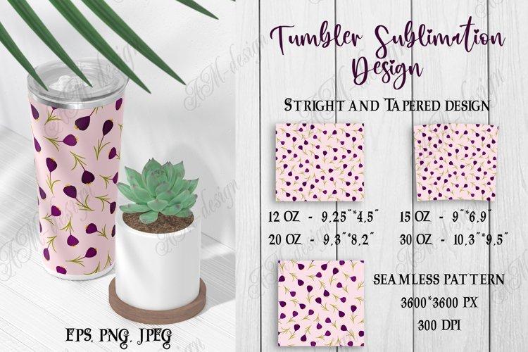 Tumbler sublimation design pink