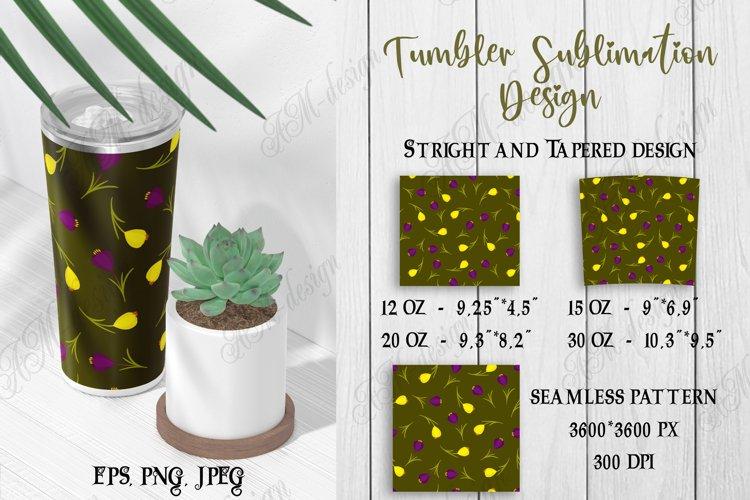 Tumbler sublimation design juniper