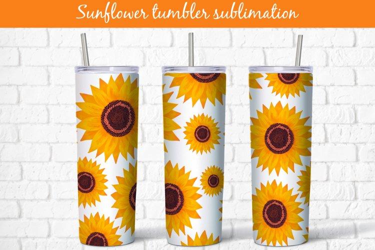 Tumbler sublimation sunflower wrap 20 Oz