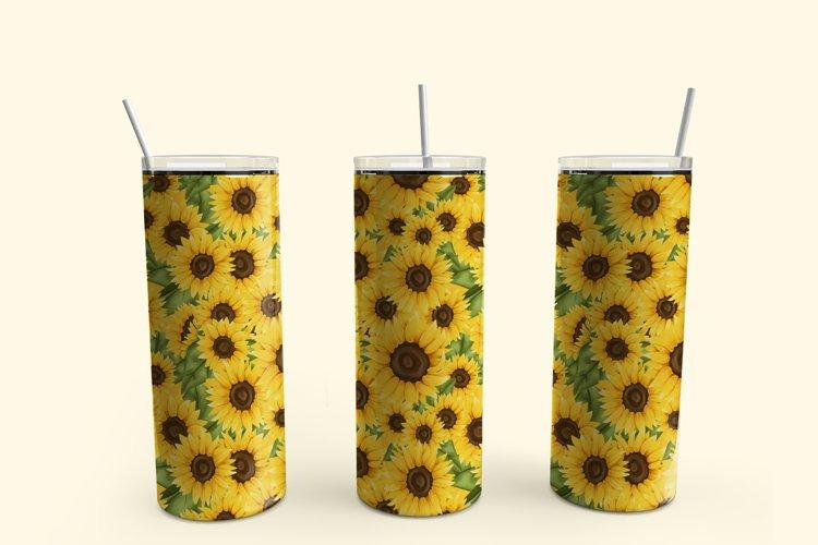 Sunflower skinny tumbler sublimation