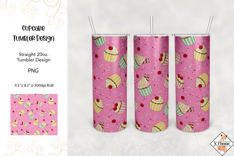 Tumbler Sublimation - Cupcakes