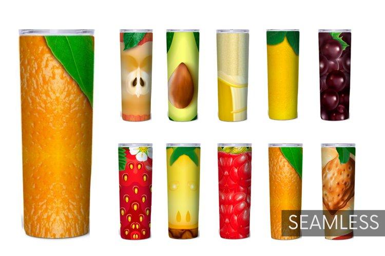 Fruits Tumbler Sublimation | 20 oz | Food | Berry