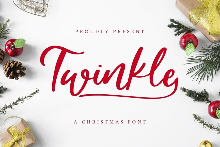 Web Font Twinkle - A christmas Font example image 1