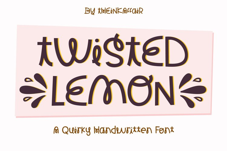 Twisted Lemon, a quirky handwritten craft font example image 1