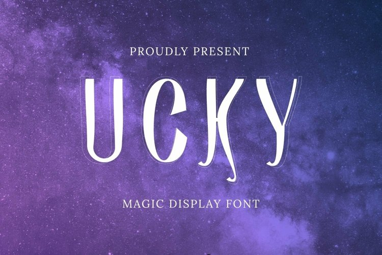 Web Font Ucky Font example image 1