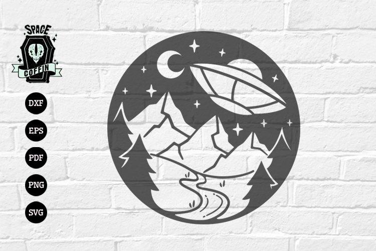 UFO, alien vector Silhouette svg dxf eps pdf png