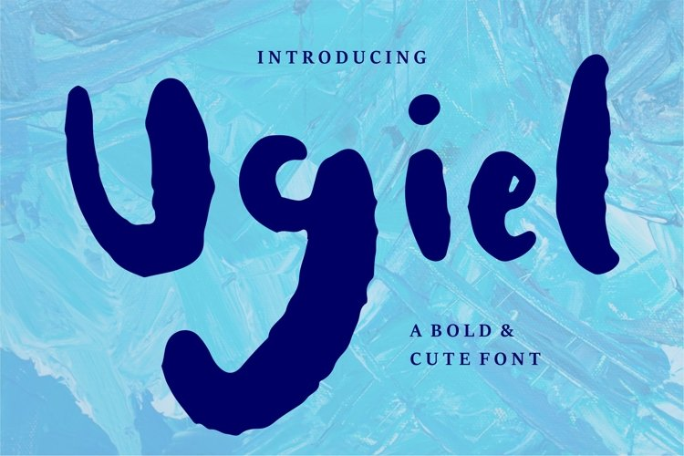 Ugiel - A Bold & Cute Font example image 1