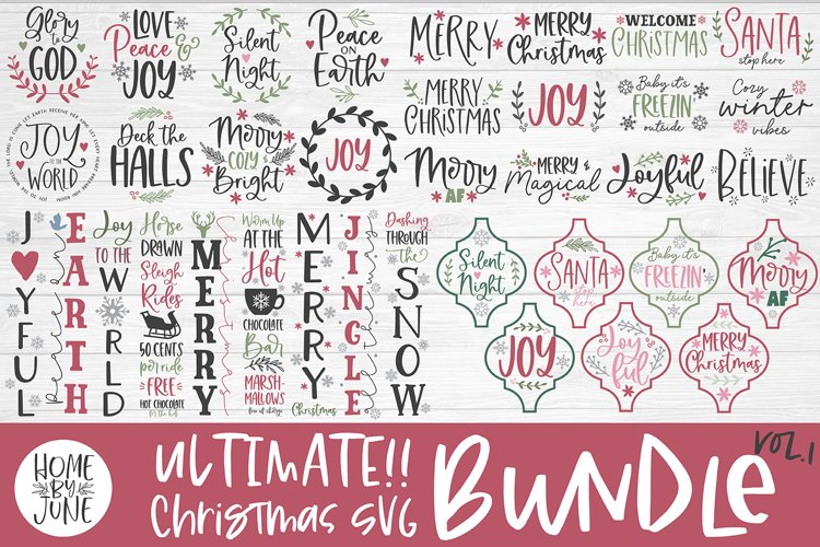 ULTIMATE Christmas SVG Bundle SVG DXF PNG