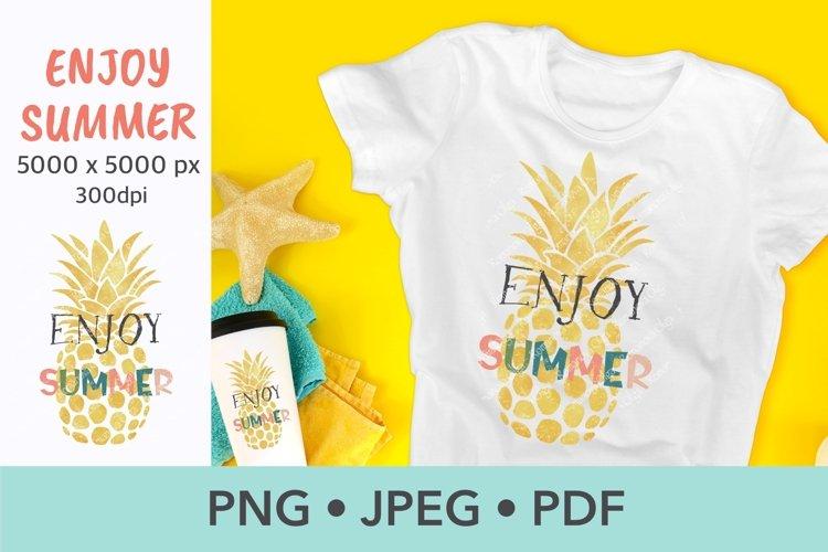 Summer sublimation Pineapple Silhouette t-shirt design