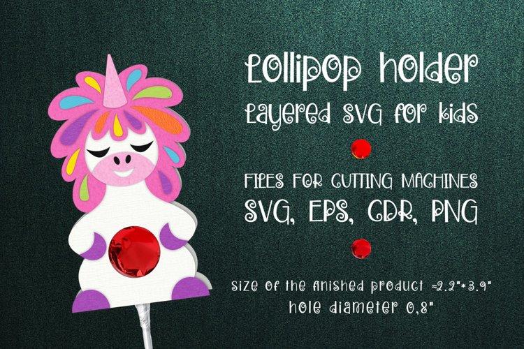 Unicorn Lollipop Holder Template SVG