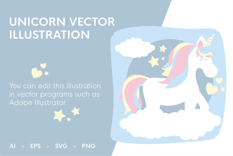 Unicorn vector illustration  AI-EPS-SVG-PNG files