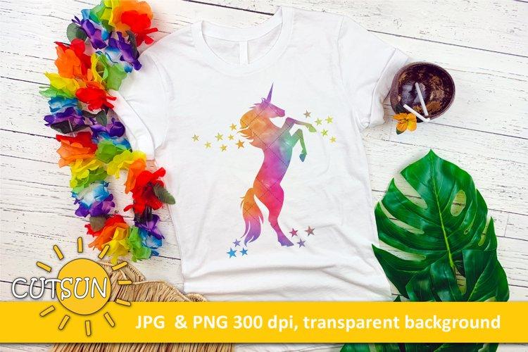 Unicorn sublimation design Watercolor   Unicorn SVG
