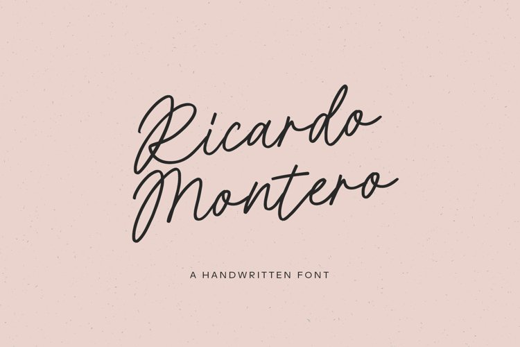 Ricardo Montero Handwritten Script