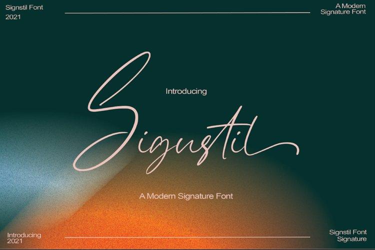 Sigustil - Signature Font example image 1