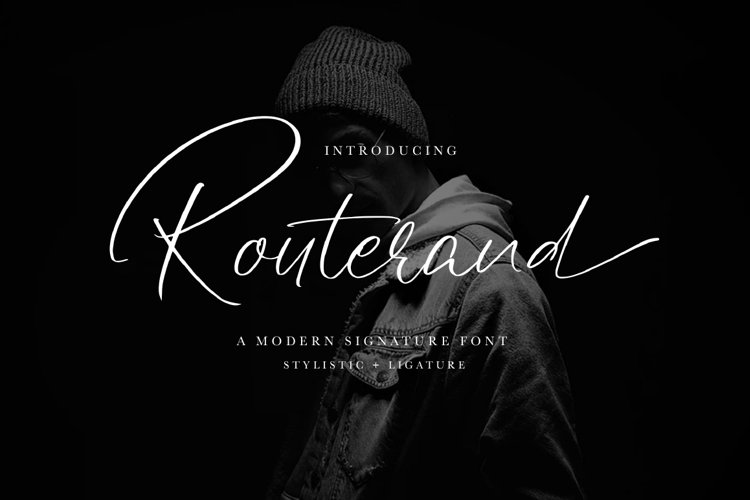 Routerand - Signature Font example image 1