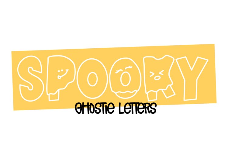 Spooky - Letters Dressed as Ghosts! A Halloween Font example image 1