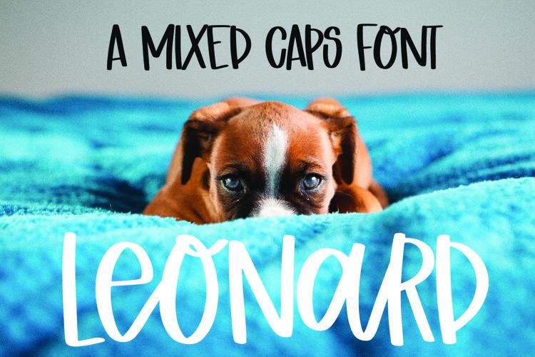 Leonard - A Mixed Caps Scripty Font example image 1