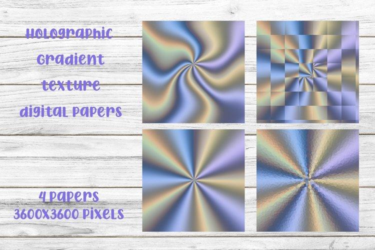 Purple Purple Holographic Gradient Texture Digital Papers