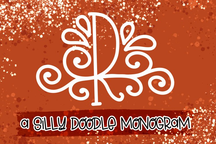 A Silly Doodle Monogram Monoline example image 1