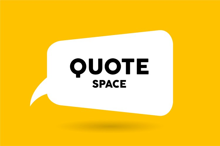 White bubble message template design on yellow background example image 1