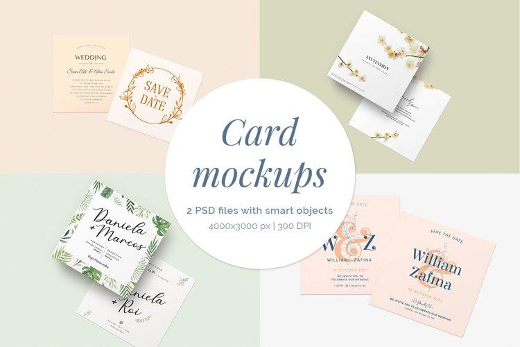 Card Mockups | 2 PSD files