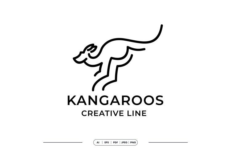 Kangaroo Simple Line Creative Logo template