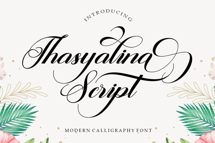 Thasyalina Script example image 1
