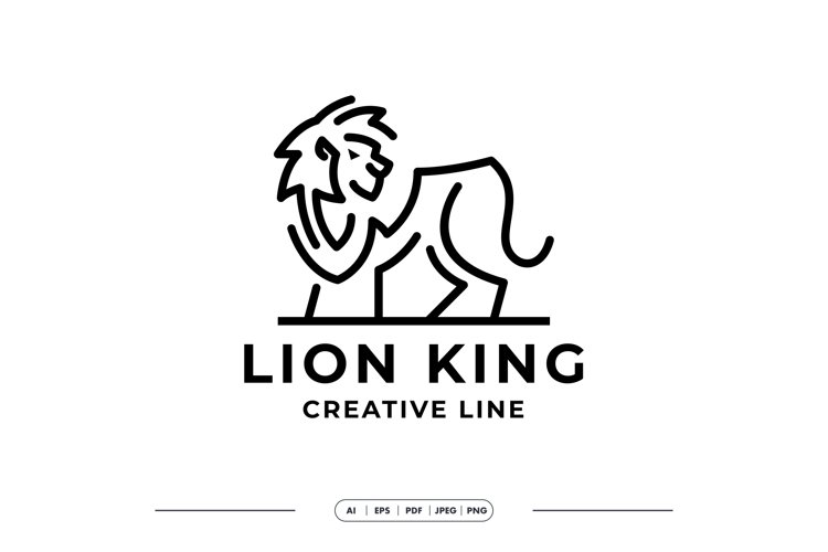 Lion KIng simple Line Modern Logo