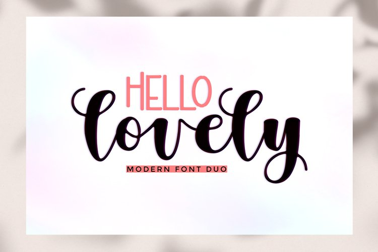 Hello Lovely Font Duo example image 1