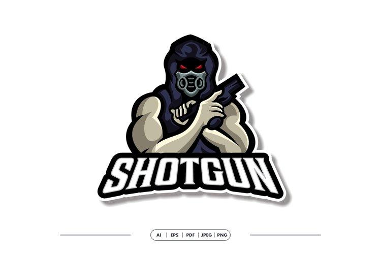 Shotgun Mask Mascot Esport Logo