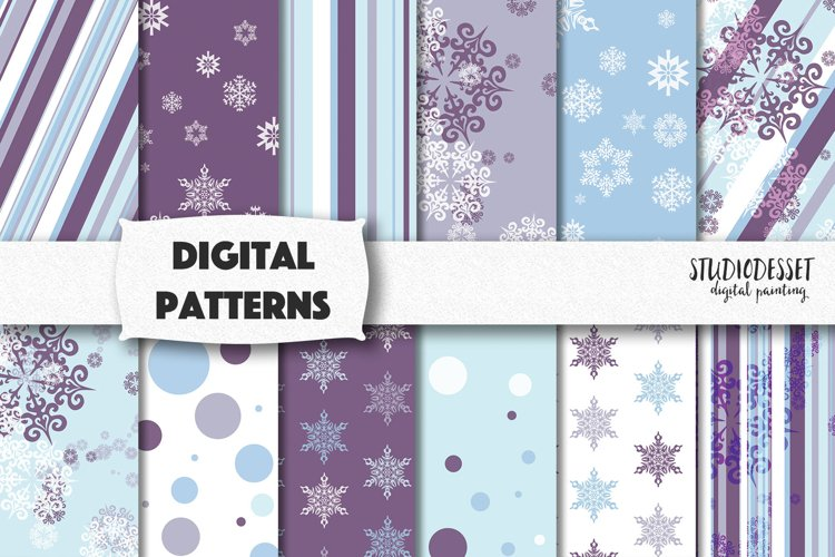 Purple Christmas Patterns   Christmas Snowflakes Backgrounds