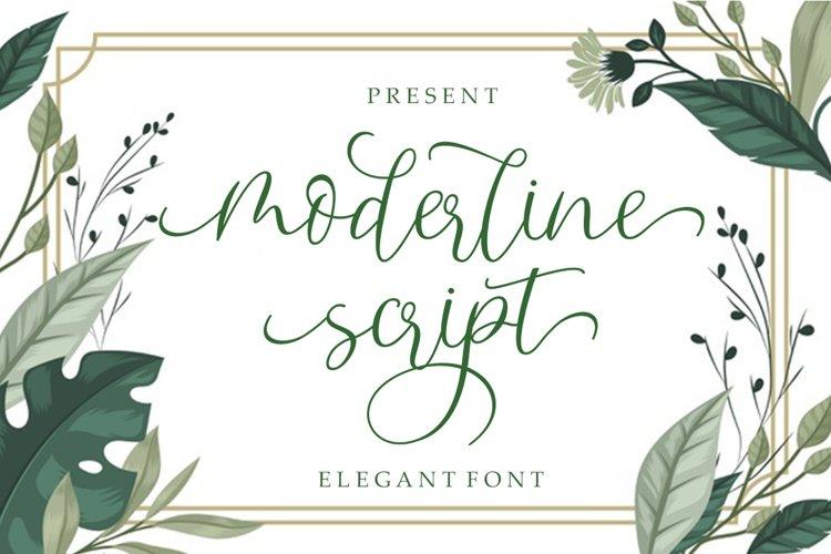 Moderline Script example image 1