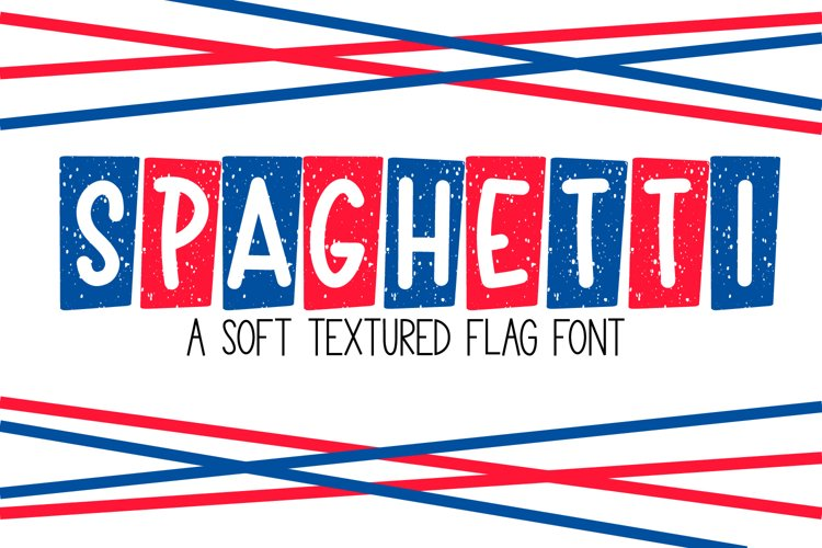 Spaghetti - A Textured Flag Font example image 1