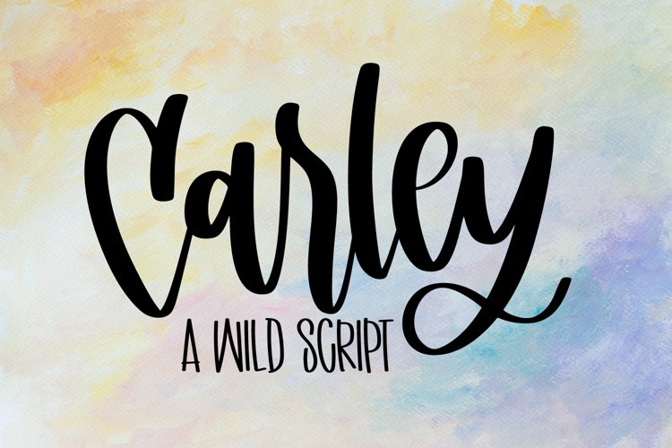 Carley - A Hand Lettered Script