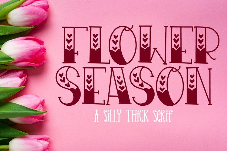 Flower Season - A Serif with Hearts