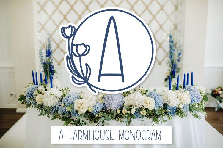 A Framed Farmhouse Monogram Font example image 1