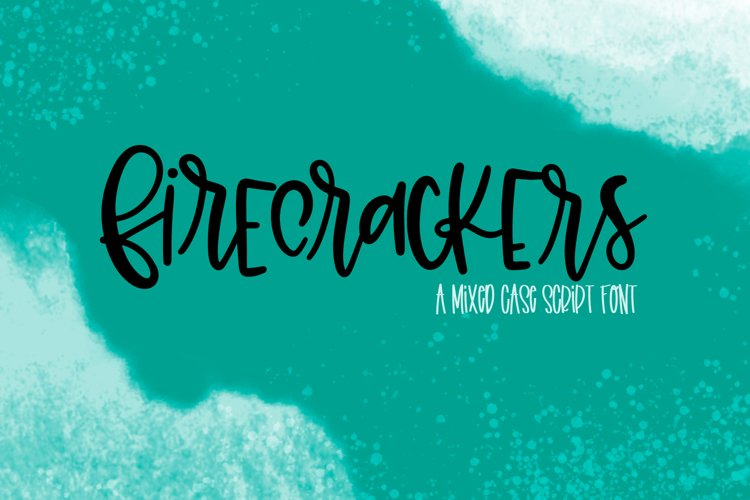 Firecrackers - A Scripty Mixed Case Font example image 1