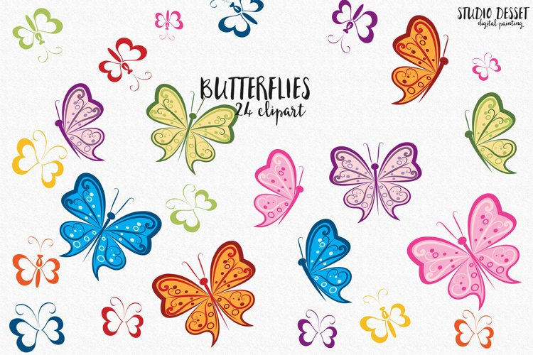 Butterfly Clipart   Butterflies Illustration for Sublimation