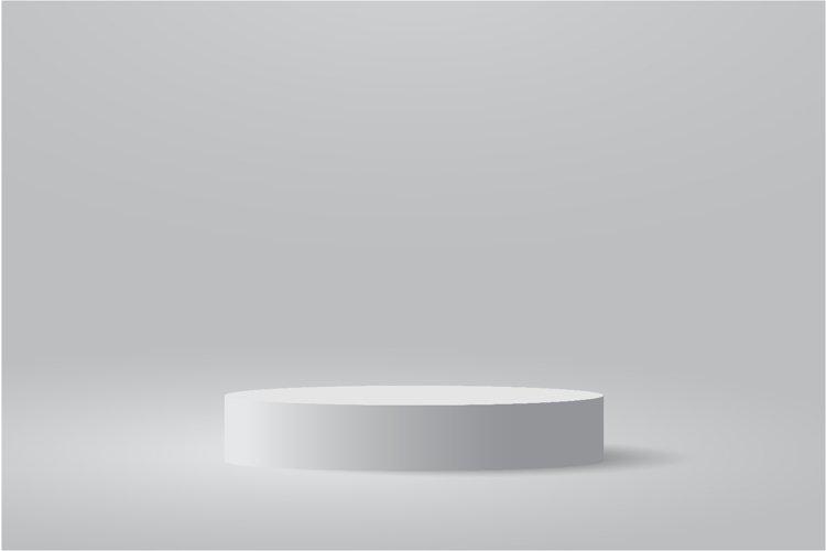 Minimalist podium and scene with 3d vector design example image 1