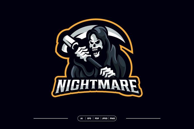 Reaper Grim Skull Logo Template