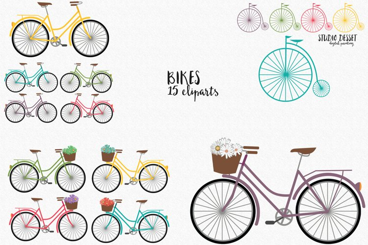 Bikes Cliparts | Bicycle Illustrations