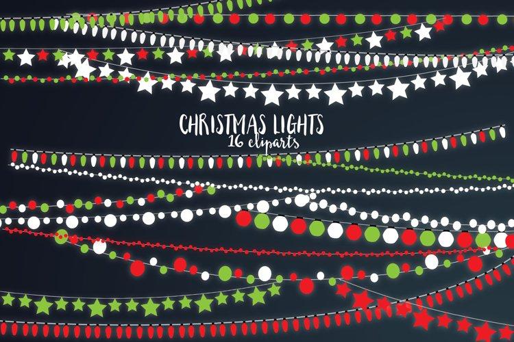 Christmas Lights Cliparts | Christmas Design Elements