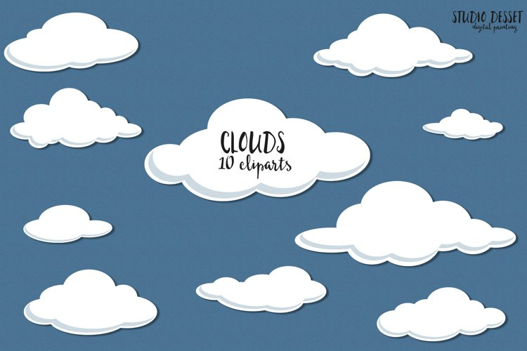Clouds Clipart Illustrations