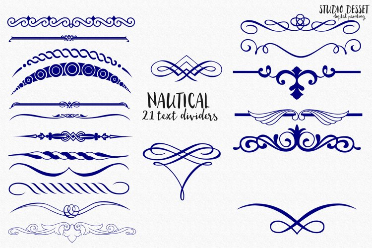 Nautical Text Dividers | Cliparts