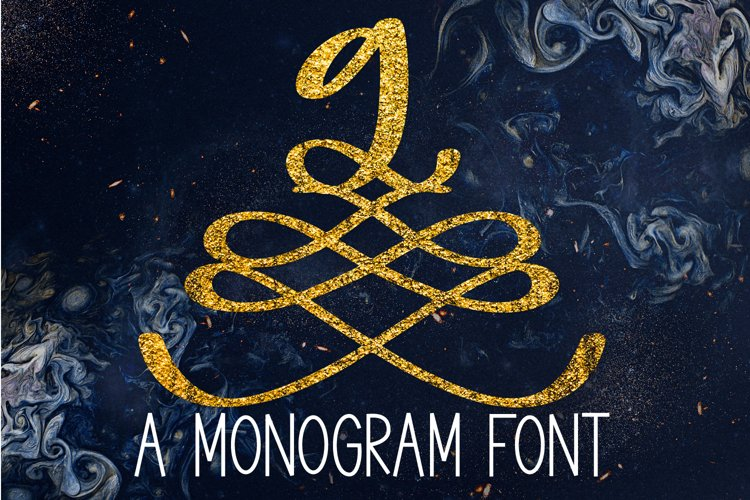 A Formal Monogram Font - Initials For Wedding example image 1