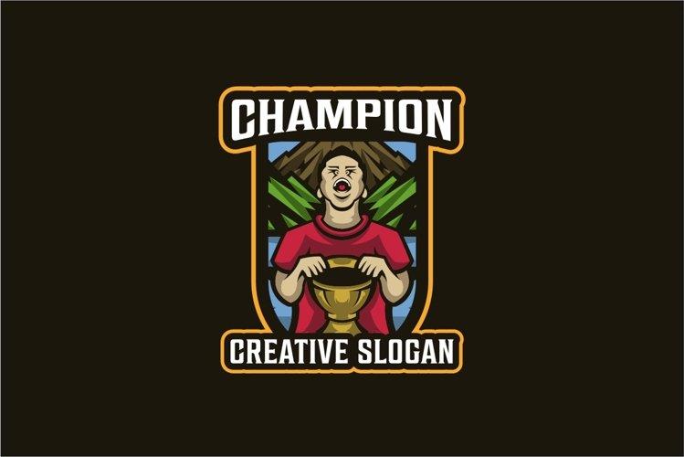 Champion Boy Thropy Logo Template